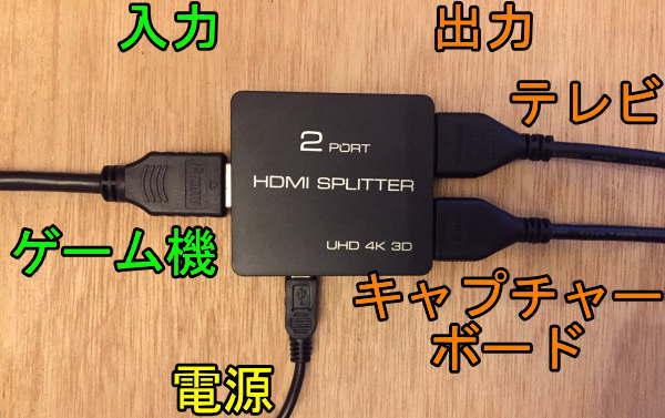HDMI分配器で同時配信の配線をセット